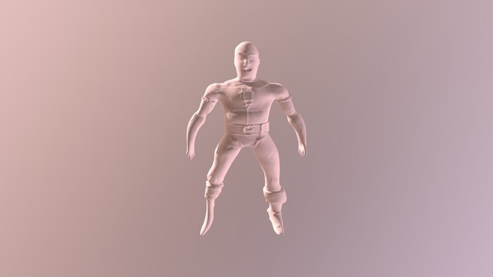 3D Character With Animations 3D Model