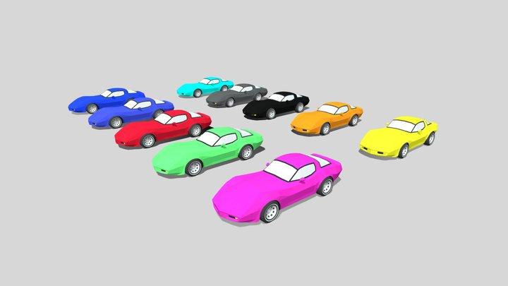 Chevrolet Corvette 1980 Different colours 3D Model
