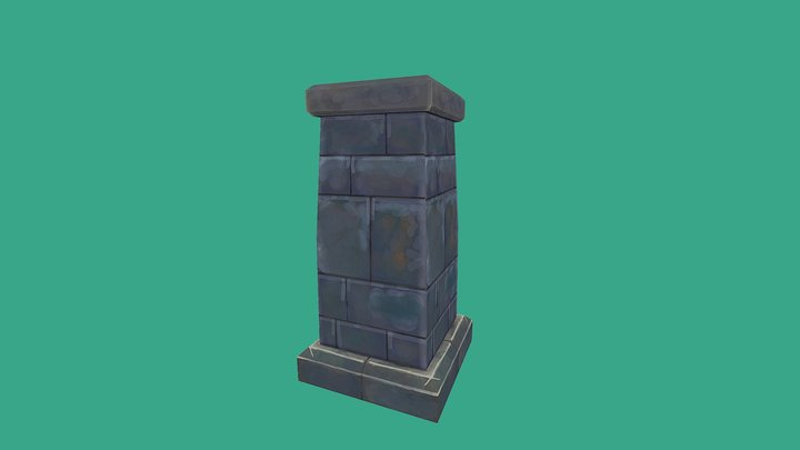 Handpainted Column 3D Model