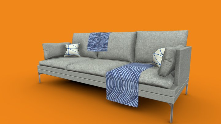 Zanotta Williams Couch 3D Model