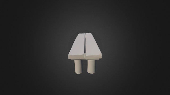 Banco Madeira 1 3D Model