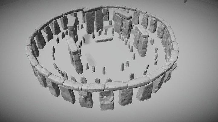 Stonehenge Reconstruction 2400 BC 3D Model