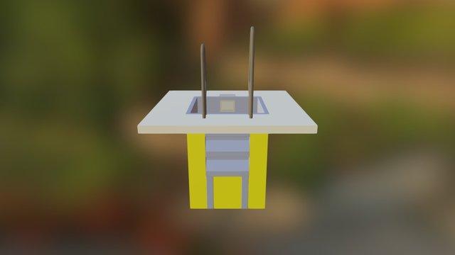 Купель 1х1 с полом 3D Model