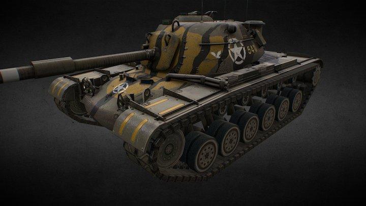 M48A1 Patton Beast 3D Model