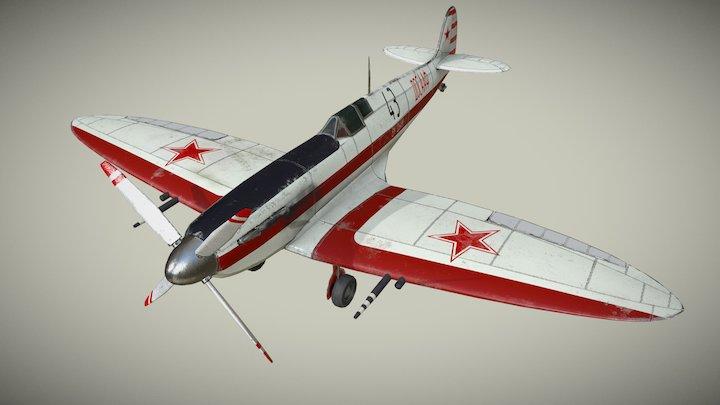 Soviet trainer spitfire 3D Model