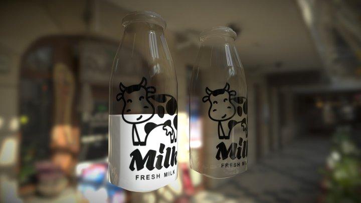 Bottle of milk 3D Model