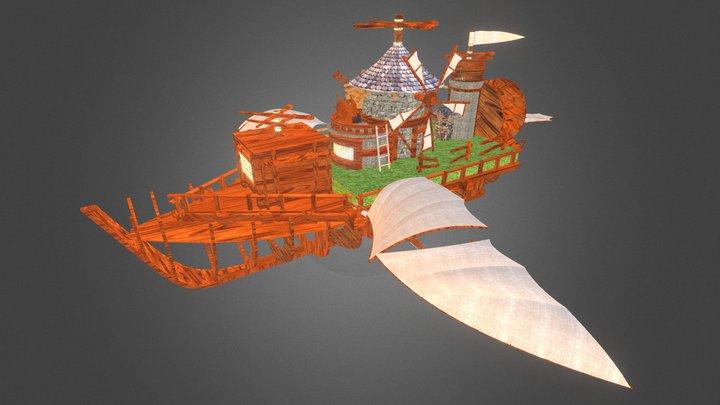 Flying Windmill 3D Model