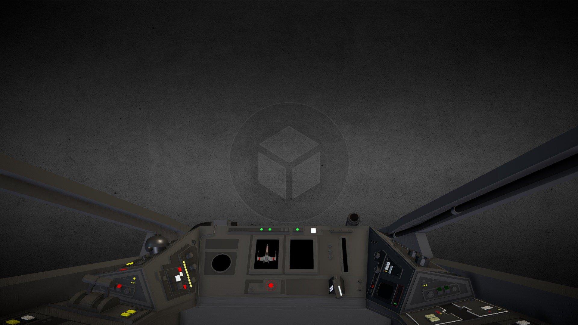Star Wars X Wing Cockpit 3d Model By Daniel Danielandersson