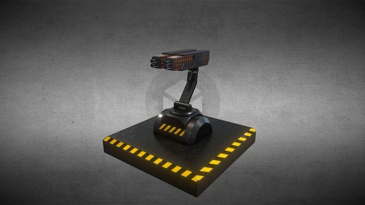 Gun Tower 3D Model