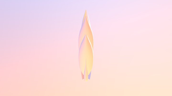 Festuca paradoxa 3D Model
