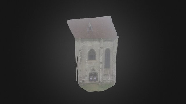 The wall of the catholic church in Cluj 3D Model