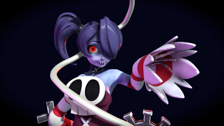 Squigly SkullGirls Tribute Patreon 3D Model