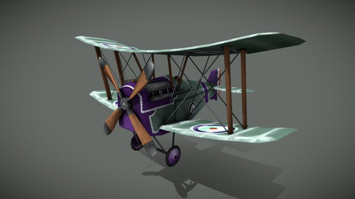 Flying Circus Hisso Plane 3D Model