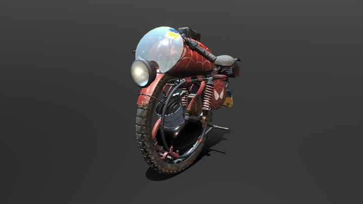 Spider-Man #MonoBikeChallenge 3D Model