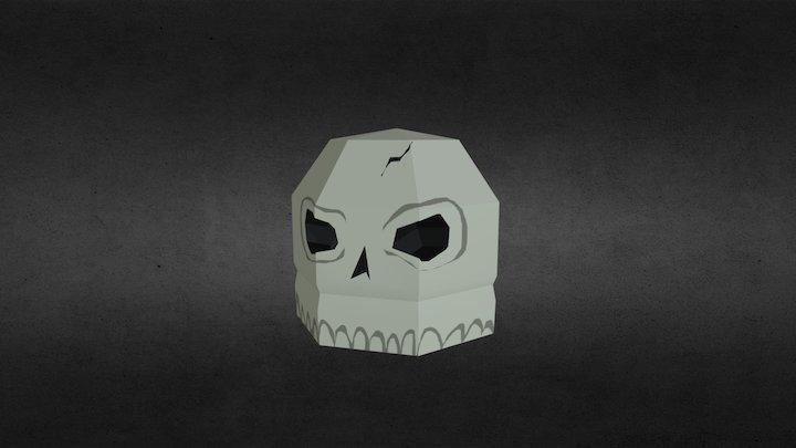 Low-Poly Skull (Spooky Model Series, 5/6) 3D Model