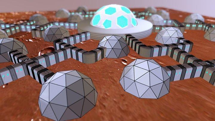 Mars Home Planet 3D Model