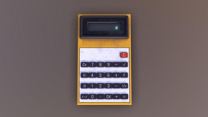 Game ready Soviet calculator 3D Model