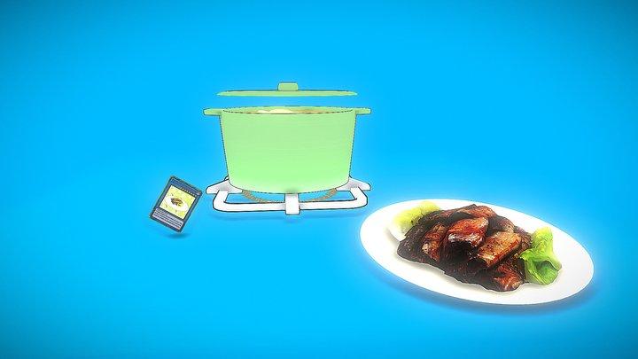 莉蓁 無骨秋刀魚 3D Model