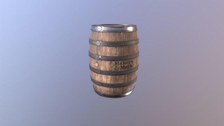 Whiskey barrel 3D Model