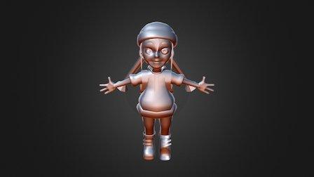Jessie Untextured 3D Model