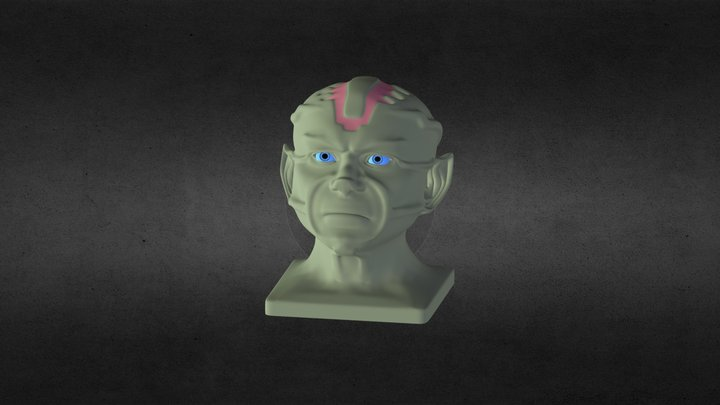 Vulcan Head 3D Model