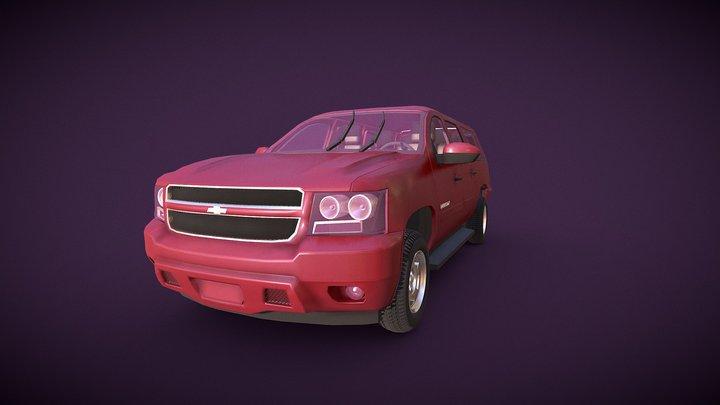 Chevrolet Surbuban Card 3D Model