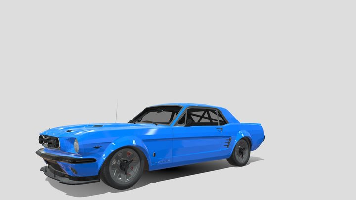 1965 Ford Mustang 3D Model