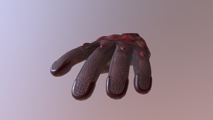 VR Tactical Gloves 4 3D Model