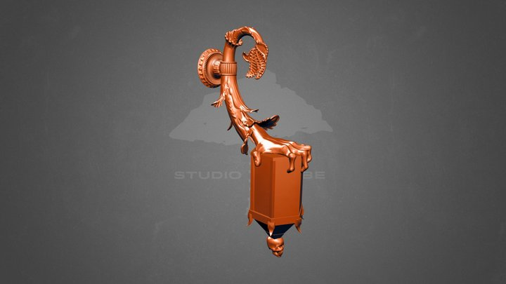 StudioTribe - Halloween Carriage Lamp 3D Model