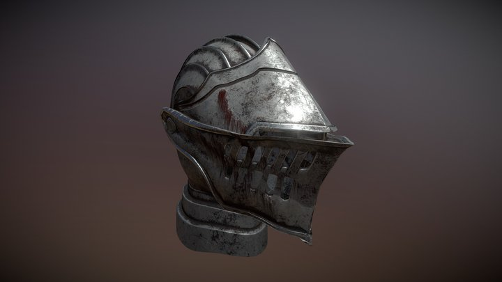 Elite Knight Helmet 3D Model