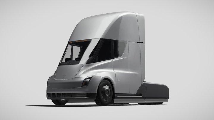 Tesla Semi 3axis 2018 Fbx 3D Model