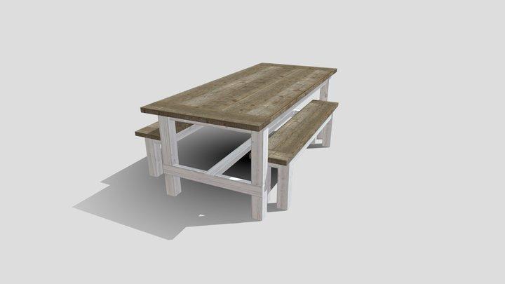 Farmhouse Table 3D Model