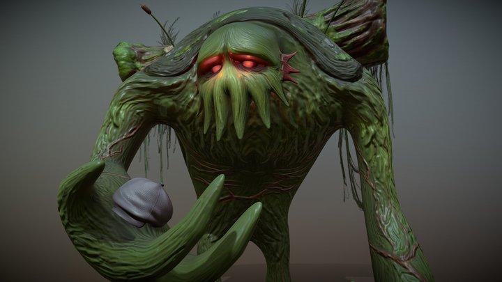 Swamp Monster Character 3D Model