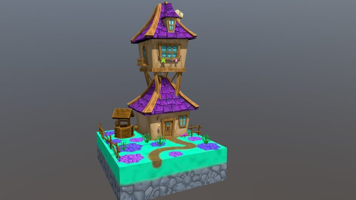 Medieval Wizard House 3D Model