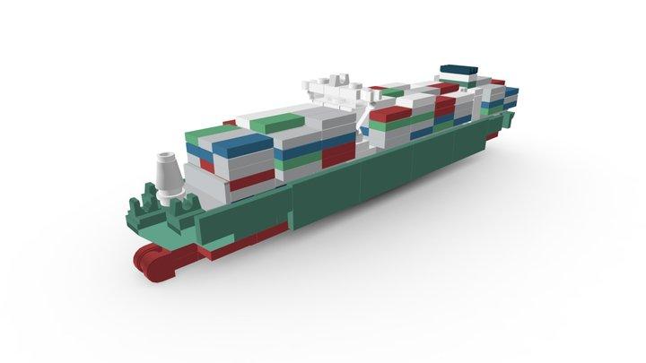 LEGO Golden-Class Container Ship 3D Model