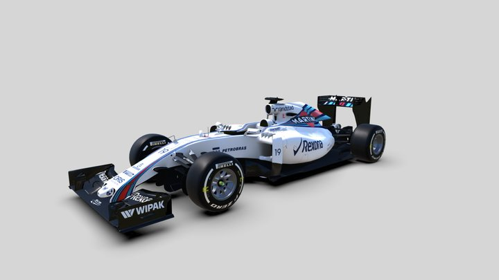 F1 Williams FW38-B 2016 3D Model