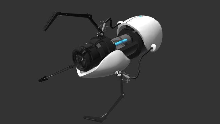 Portal Gun 3D Model