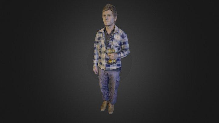 Multi coloured human scan 3D Model
