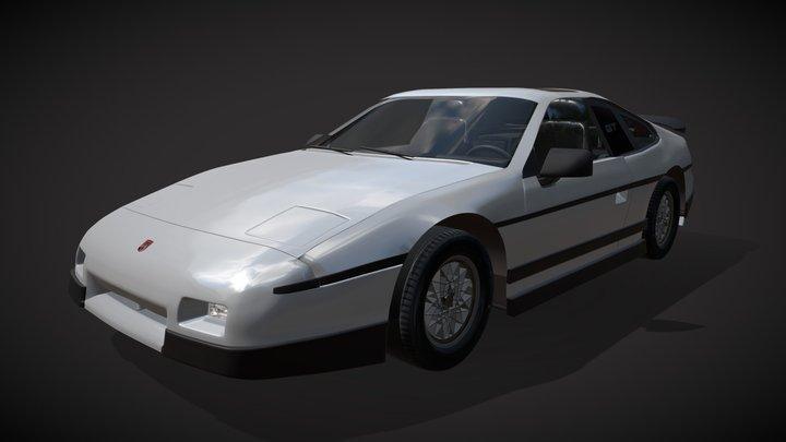 Pontiac Fiero GT 1987 3D Model