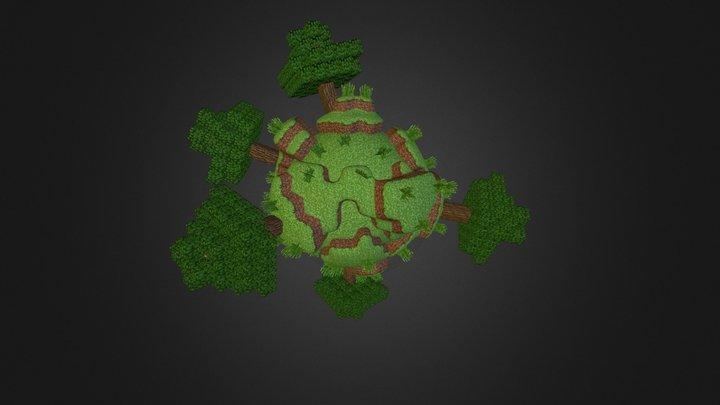 Minecraft Sphere World 2 3D Model