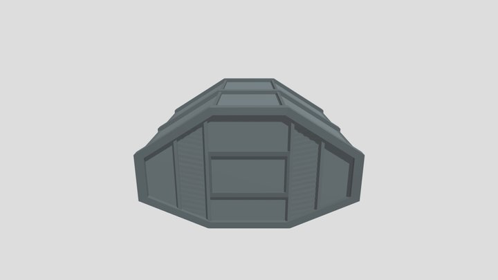 Low-Poly Hoth Container 01 3D Model