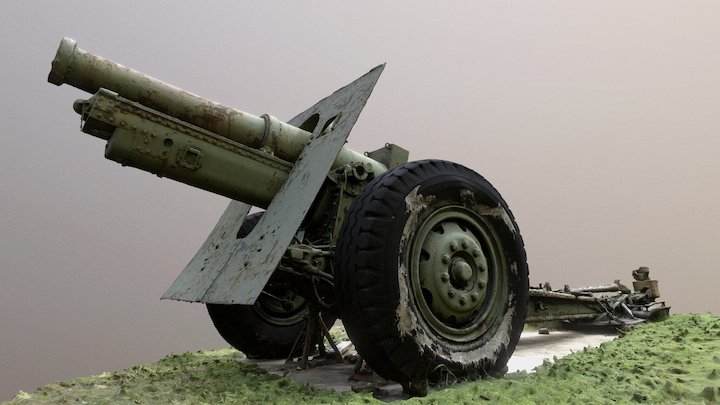 The Other Cannon at Camp George West 3D Model