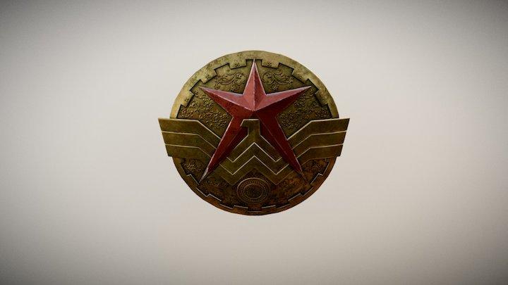 goddess of war Shield 3D Model