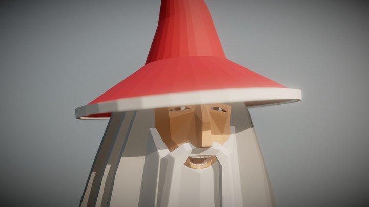 Santa Gandalf Epic Xmas 3D Model