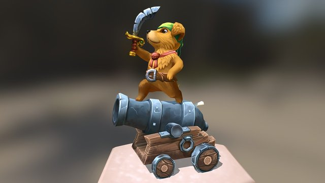 National Puppy (pirate) Day 3D Model