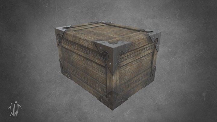 Ancient Wooden Box 2 3D Model