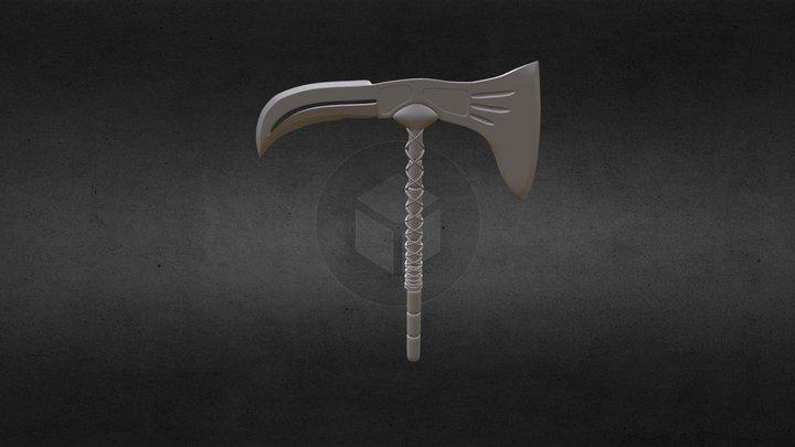 Weapon Axe Knife 3D Model