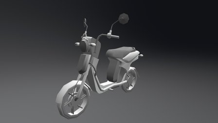Yamaha motorcycle lowpoly 3D Model