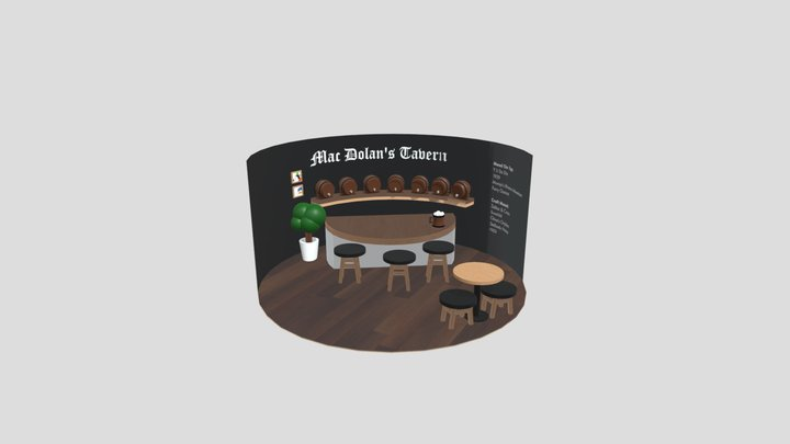 Mac Dolan's Tavern Interior 3D Model