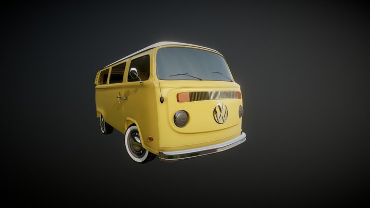VW T2 Westfalia 3D Model